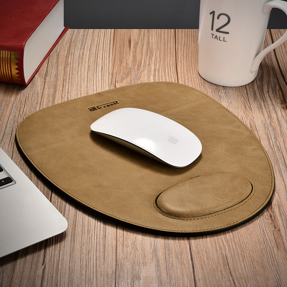 Shenzhou Real Leather Mouse Pad