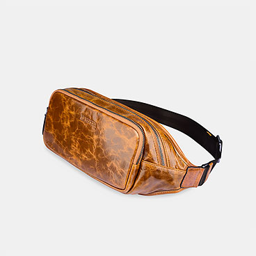 Vintage Oil Wax Real Leather Waist Bag
