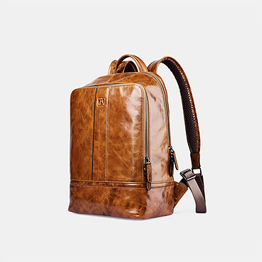 Vintage Oil Wax Real Leather Backpack