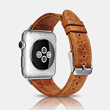 Classic Genuine Leather Series Watchband For Apple Watch