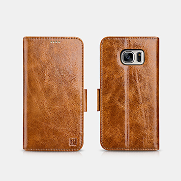Oil Wax Leather Detachable 2 in 1 Wallet Folio Case For SAMSUNG Galaxy S7