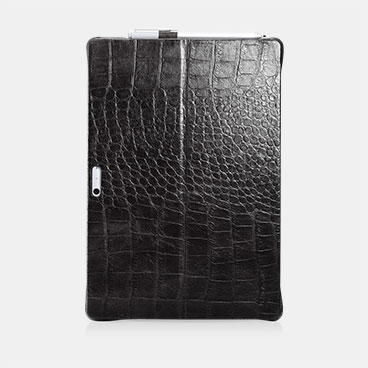 Embossed Crocodile Genuine Leather Back Case For Surface Pro 4 & Surface Pro 2017