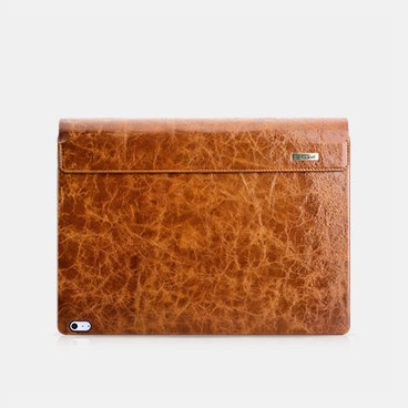 Oil Wax Vintage Genuine Leather Detachable Flip Case For Surface Book