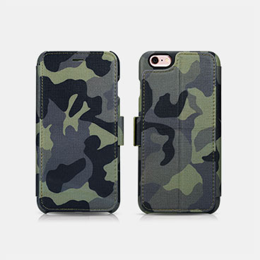 Camouflage Wallet Case with Two Credit Cards Slot Design For iPhone 6/6S