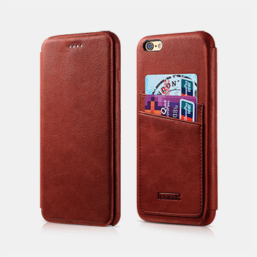Knight Card-slot Real Leather Cover Series For iPhone 6/6S