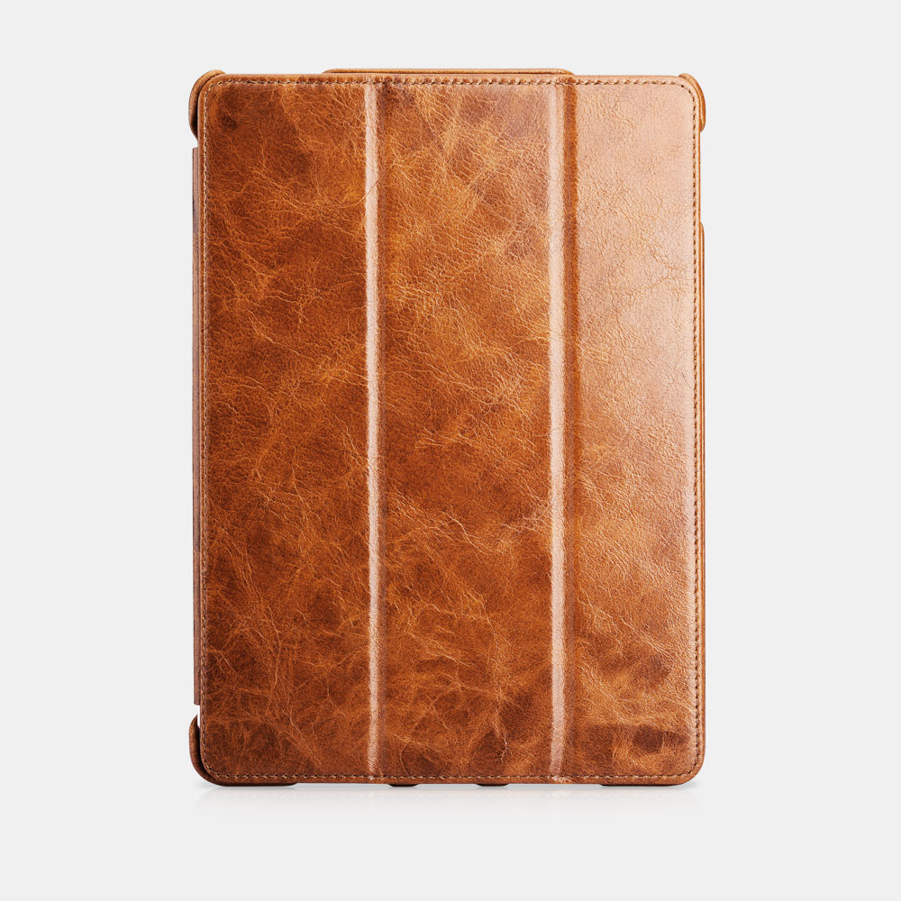 Oil Wax Vintage Genuine Leather Folio Case For iPad Pro 9.7