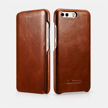 Curved Edge Vintage Series Folio Case For HUAWEI P10 Plus