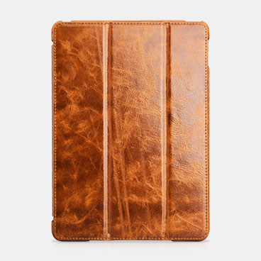 Oil Wax Vintage Genuine Leather Folio Case For iPad Air 2
