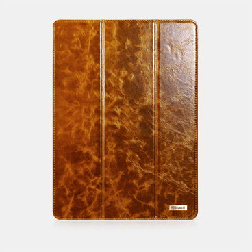Oil Wax Vintage Genuine Leather Folio Case For iPad Pro