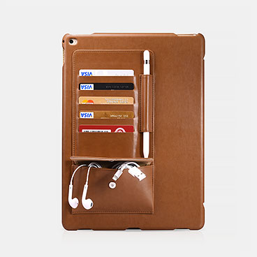 Business Multi-credit cards Tablet Leather Case For iPad Pro