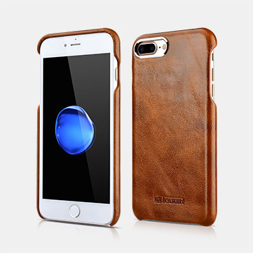 Metal Warrior Oil Wax Real Leather Back Case For iPhone 7 Plus/8 Plus