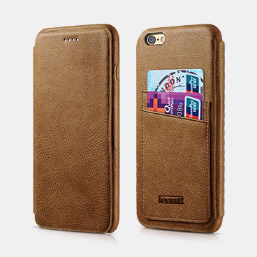 Knight Card-slot Real Leather Cover Series For iPhone 6 Plus/6S Plus