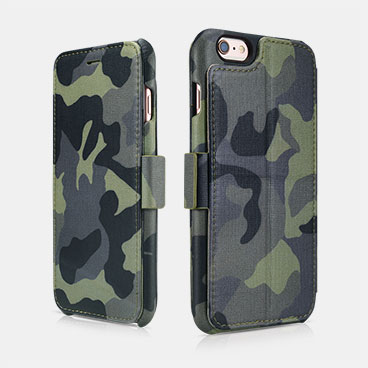 Camouflage Wallet Case with Four Credit Cards Slot Design For iPhone 6 Plus/6S Plus