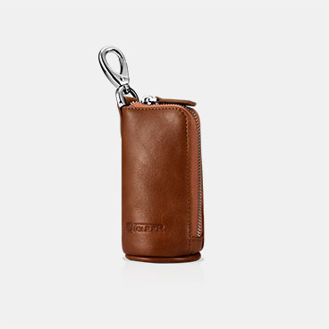 Vegetable Tanned Leather Zipper Key and Pocket Money Holder