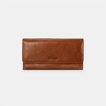 Vegetable Tanned Leather Ultra-thin Wallet with Charger Hole