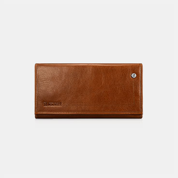 Vegetable Tanned Leather Three Fold Wallet