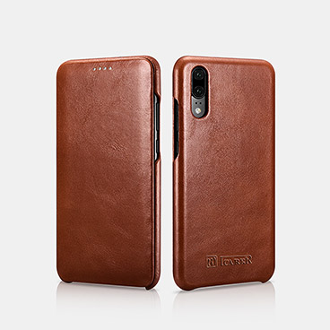 Vintage Real Leather Folio Case for Hauwei P20
