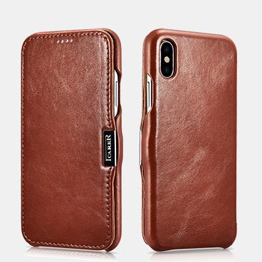Factory iPhone XS Max Vintage Series Side-open(6.5 inch:Metal clip in the front)Leather Phone Cases Wholesale