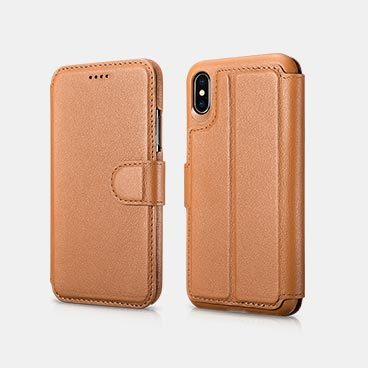 iPhone X/XS Distinguished  Series Real Cowhide Nappa Leather Detachable 2 in 1 Wallet Folio Case
