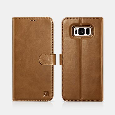 Samsung S8 Genuine Leather Detachable 2 in 1 Wallet Folio Case