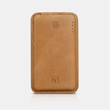 4400mAh Genuine Leather Portable Power Bank