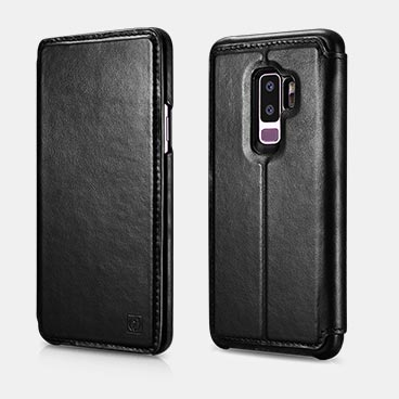 Samsung S9 plus Distinguished Series Real Leather Detachable 2 in 1 Wallet Folio Case