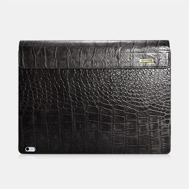 Embossed Crocodile Genuine Leather Detachable Flip Case for Surface Book 2