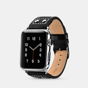 Classic Series Real Cowhide Leather Apple Watchband for 42mm/44mm