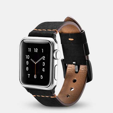 Knight Series Genuine Cowhide Leather Watchstrap for iWatch 42mm/44mm