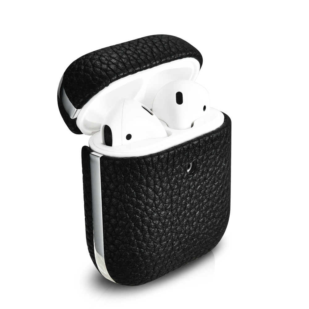 Airpods Hermes Leather Electroplated Protective Case Cover New