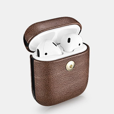Airpods Crazy Horse Leather Electroplated Protective Case Cover New