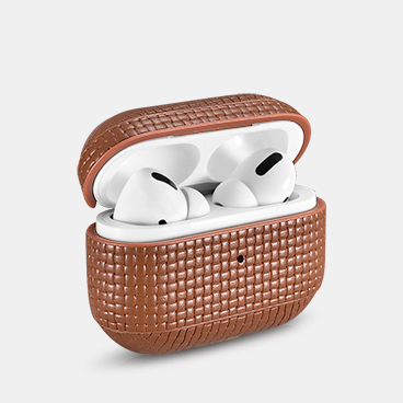 Airpods Pro Woven Pattern Real Leather Protective Case