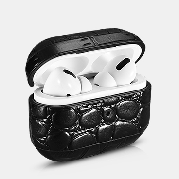 Airpods Pro Crocodile Pattern Genuine Leather Protective Case