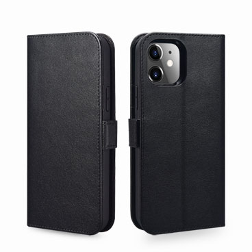 Nappa Real Leather Wallet Case for iPhone 12