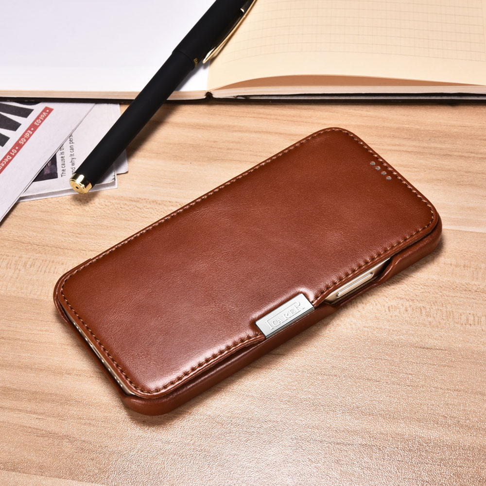 Vintage Leather Magnetic Style Folio Case for iPhone 12