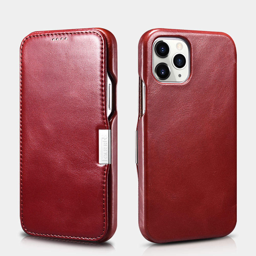 Vintage Leather Magnetic Style Folio Case for iPhone 12 Pro Max - Leather Cases for iPhone