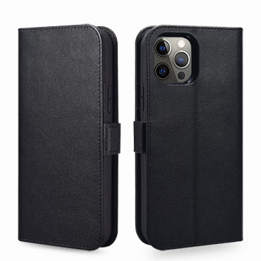 Nappa Real Leather Wallet Case for iPhone 12 Pro Max