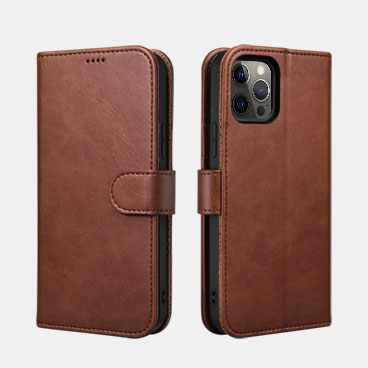 Classic PU Leather Wallet Case for iPhone 12 Pro Max(6.7inch)