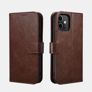 Classic PU Leather Wallet Case for iPhone 12/12 Pro(6.1inch)