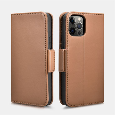 iPhone 12 Pro Max Haixing Series Real Leather Wallet Case (Detachable 2-in-1)