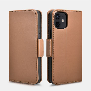 iPhone 12 Mini Haixing Series Real Leather Wallet Case (Detachable 2-in-1)